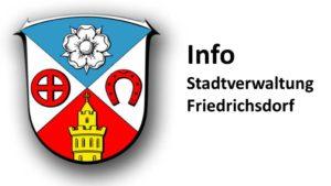 Rathaus Friedrichsdorf geschlossen @ Stadtverwaltung Friedrichsdorf