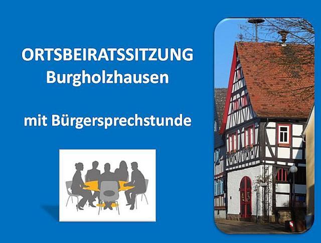 Ortsbeiratssitzung Burgholzhausen
