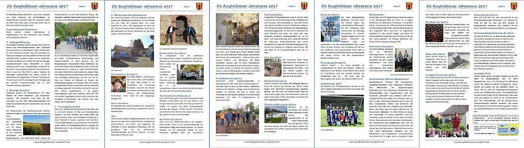 Burgholzhausen Jahresrückblick 2017