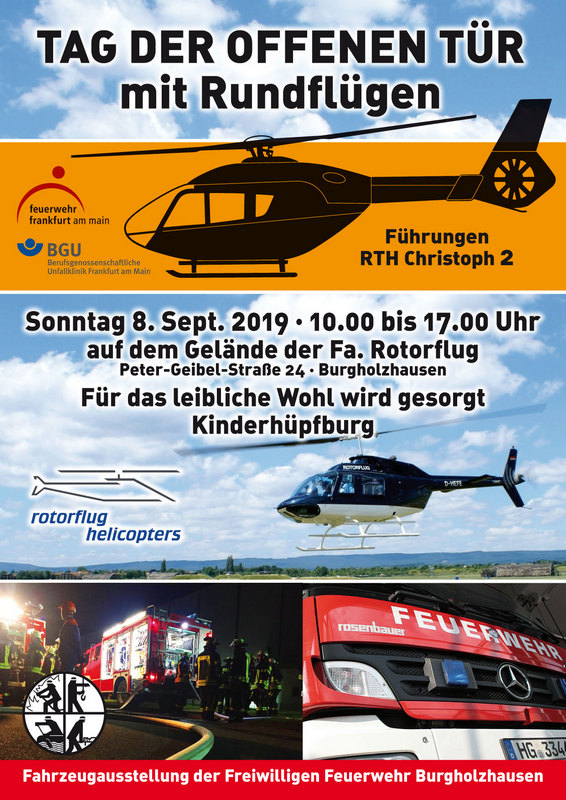 Feuerwehr Burgholzhausen, Christoph 2, Rotorflug Helicopters