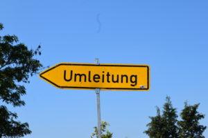 Umleitung nach Ober-Erlenbach