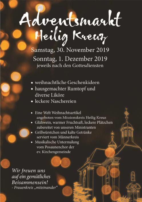 Adventsmarkt Hl. Kreuz 2019