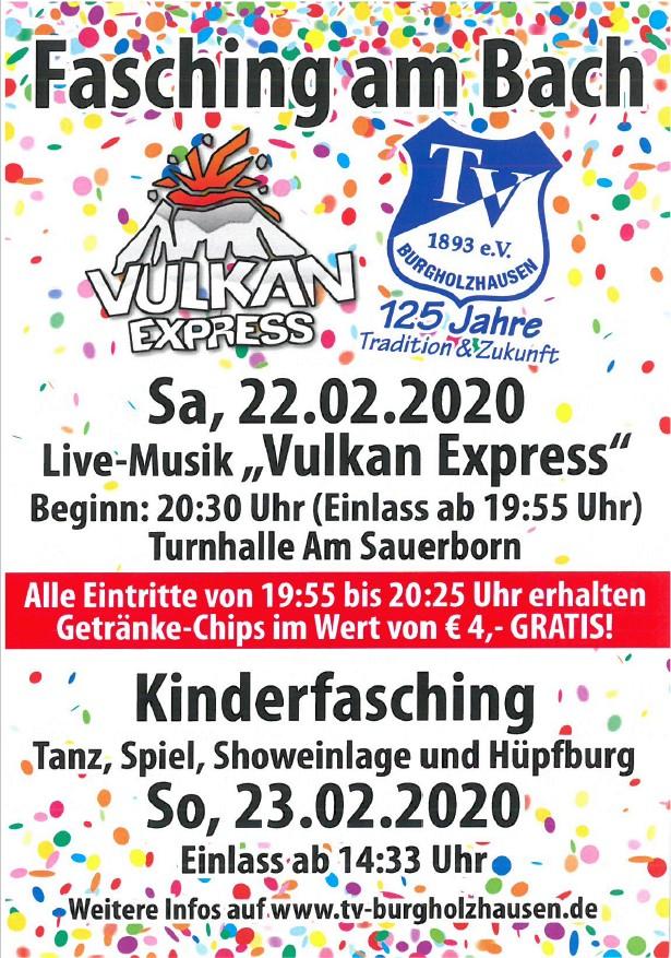 Fasching am Bach 2020 beim TV Burgholzhausen