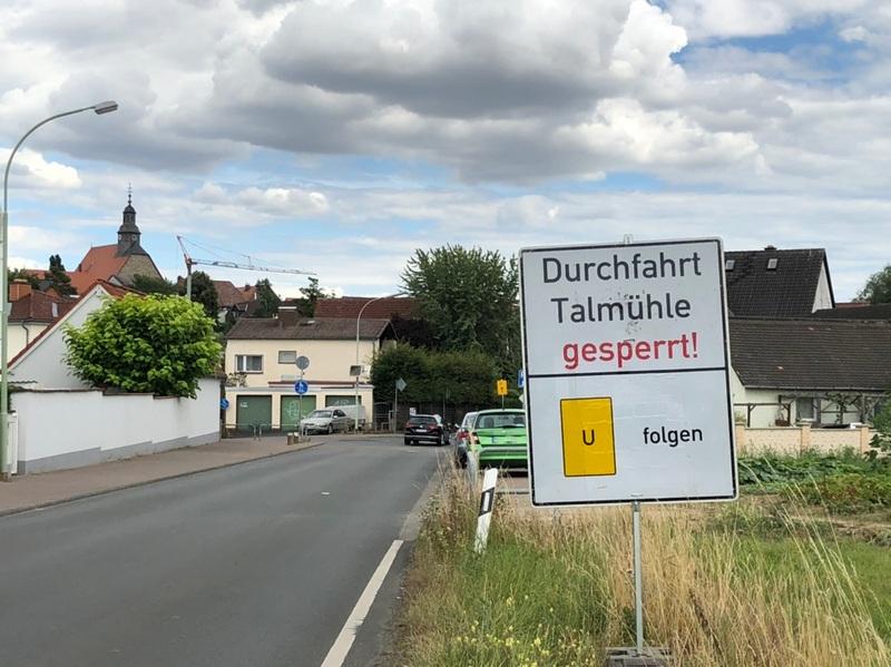Straßensperrung Burgholzhausen