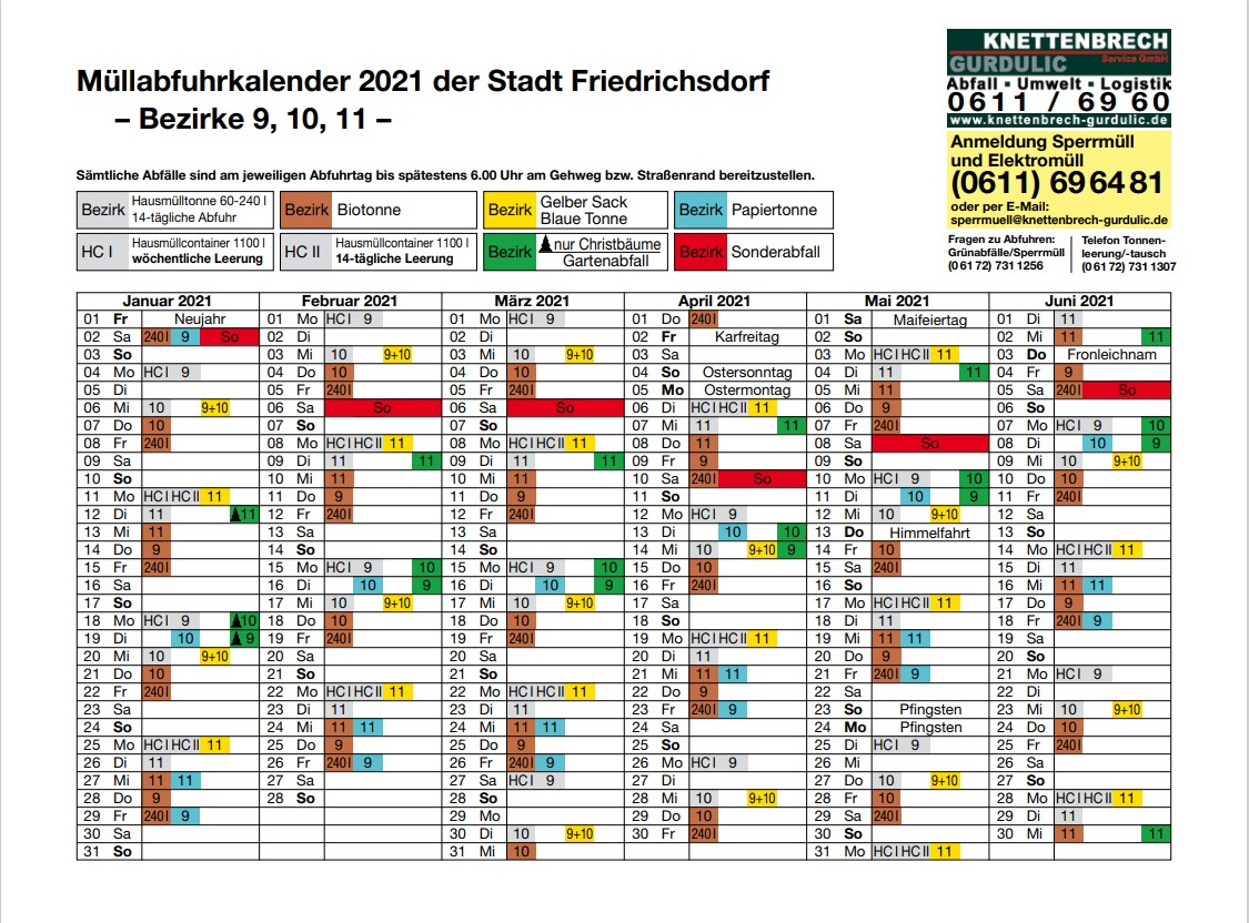Burgholzhausen Müllkalender