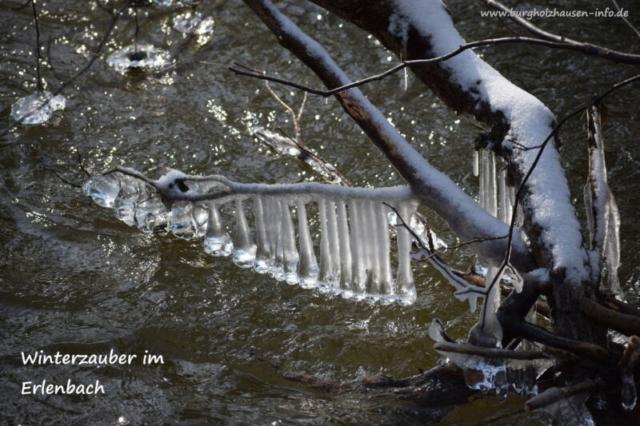 Burgholzhausen Frost Erlenbach Winterzauber