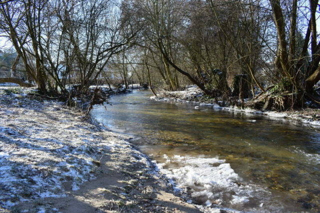 Burgholzhausen Erlenbach Winter Natur Paradies