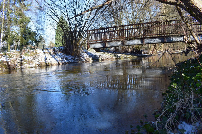 Burgholzhausen Erlenbach Winter Natur Paradies