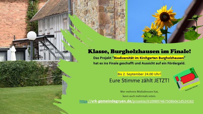 Biodiversität Burgholzhausen, evangelische Kirche, Burgholzhäuser Stadtteilseite