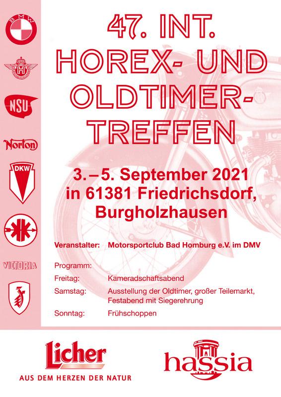 47. Internationales Horex- und Oldtimer-Treffen 2021, Burgholzhäuser Stadtteilseite, DMV, Motorrad